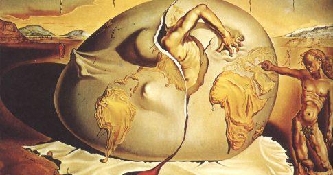 """Salvador Dalí """"Criança geopolítica observando o nascimento do homem novo"""", 1943"""