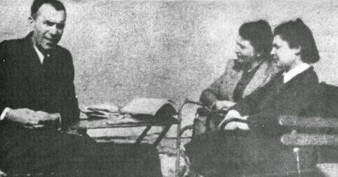 """Pietro Tresso junto a """"Barbara"""" e Gabriella Maier - Reprodução"""