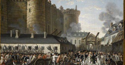 """""""Prise de la Bastille et arrestation du gouverneur M. de Launay, le 14 juillet 1789"""", Obra anônima"""