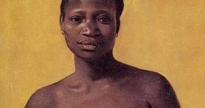 """Mulher negra sentada de frente"". FELIX VALLOTTON, 1911"