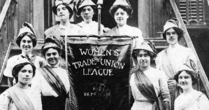 Membros da Women's Trade Union League em luta pela jornada de 8 horas - Kheel Center / Flickr