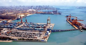 O porto de Zhanjiang, na China  - Reprodução