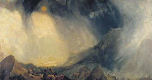 "J.M.W. Turner ""Snow Storm: Hannibal and his Army Crossing the Alps"" ,1812"