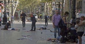 Imagem de Barcelona momentos após o ataque terrorista - Reprodução
