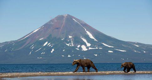 Vulcão da região preservada de Kamchatka, na Rússia - Reprodução