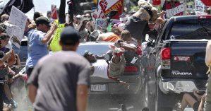 Carro avança na direção de manifestantes antirracistas - Tendance Coatesy