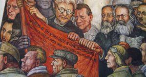 Mural de Diego Rivera em celebração à IV Internacional