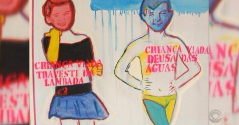 """Bia Leite, """"Travesti da lambada e deusa das águas"""", 2013."""
