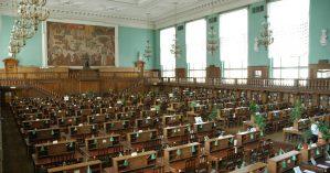 Interior da Biblioteca do Estado Russo, antiga Biblioteca Lênin - Reprodução