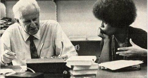 Herbert Marcuse e Angela Davis, 1968 - Reprodução