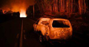 Incêndio na região de Pedrógão Grande - Reprodução