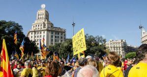 Manifestantes catalães m 19 de novembro - Flickr Hive Mind