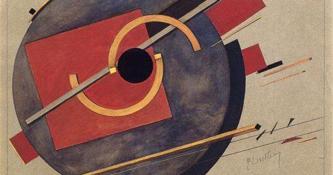El Lissitzky, Esboço para um pôster (1920)