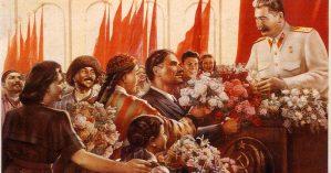 """""""Querido Stalin é a felicidade das pessoas"""", 1949 Joseph Vissarionovich Stalin."""