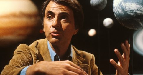 Carl Sagan. Reprodução