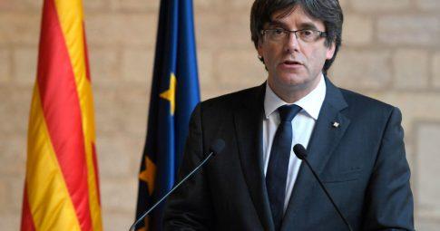 Carles Puigdemont na Bélgica. Foto: Lluis Gene/AFP/Getty Images.