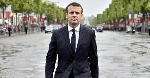 Emmanuel Macron durante sua cerimônia de posse em 14 de maio deste ano - ALAIN JOCARD/POOL/FILE PHOTO/REUTERS