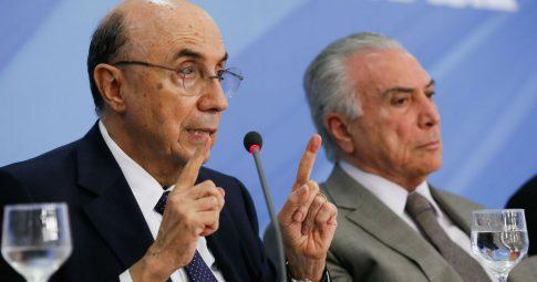 Henrique Meirelles e Michel Temer. Foto: Beto Barata/PR