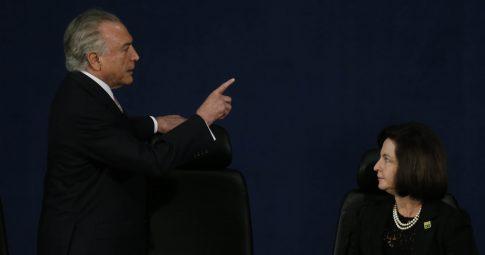 O presidente Michel Temer e a procuradora-geral Raquel Dodge. - Dida Sampaio/Estadão