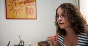 Luciana Genro concede entrevista - Vinícius Roratto