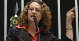 A então deputada federal Luciana Genro – Reprodução