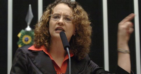 A então deputada federal Luciana Genro - Reprodução