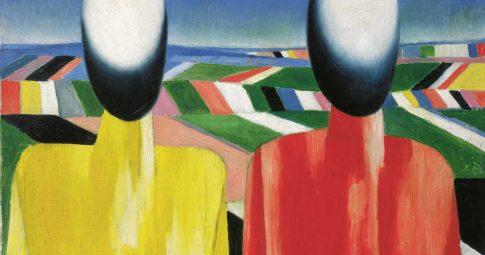 """Camponeses"" (1930) de Kazimir Malevich"