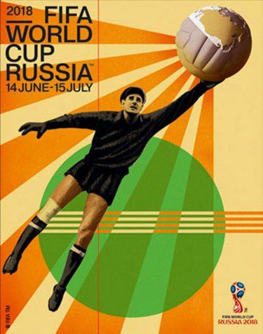 Poster oficial da Copa do Mundo de 2018.