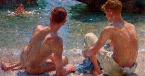 "Henry Scott Tuke, ""The critics"", 1927."