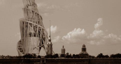 """Esboço do projeto de construção do """"Monumento à Terceira Internacional"""", desenhado pelo arquiteto russo Vladimir Tatlin visando ser a sede do Comintern em São Petesburgo - Reprodução"""