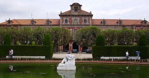 Vista do Palácio da Catalunha, em Barcelona - Reprodução