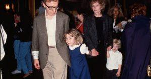 Woody Allen e Mia Farrow ao lado de Dylan Farrow - Time Life Pictures