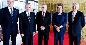 Collor, Sarney, Lula, Dilma e FHC. Reprodução