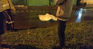 A cena do crime na cidade de Samambaia (DF) - Reprodução