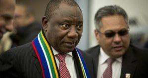 Cyril Ramaphosa em encontro do Fórum Econômico Mundial em 17 de Janeiro - Reinart Toerien/EWN