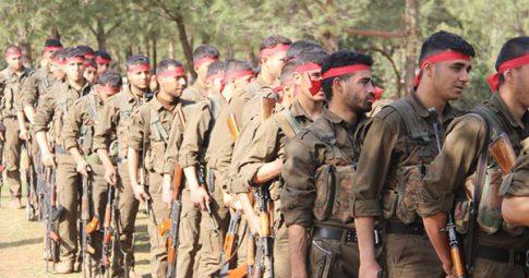 Lutadores das Unidades de Proteção do Povo curdas (YPG). Reprodução