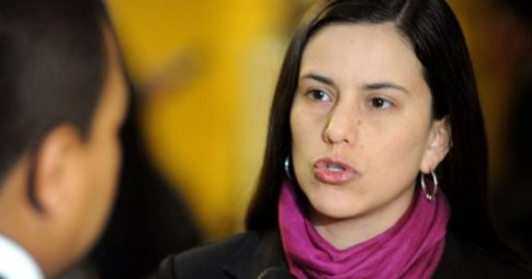 A congressista peruana Verónika Mendoza - Reprodução