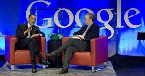Barack Obama em encontro com Eric Schmidt em 2007 - Reprodução