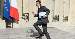 O presidente francês Emmanuel Macron - Reprodução