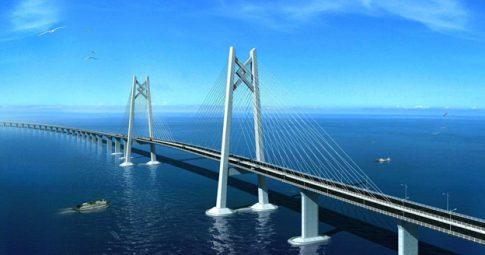 Projeto arquitetônico da ponte que pretende ligar China a Hong Kong - Reprodução