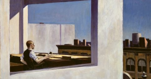 Edward Hopper: Office in a Small City, 1953