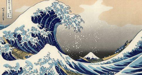 """""""A Grande Onda de Kanagawa"""", Katsushika Hokusai"""