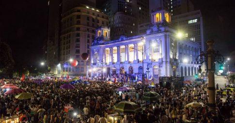 Manifestantes se reúnem em ato multirreligioso por Marielle no Rio - Ricardo Borges