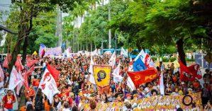 Imagem do 8 de março do ano passado em Belo Horizonte - Maxwell Vilela