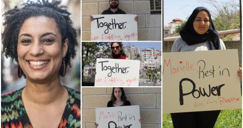 Ativistas prestam solidariedade a Marielle Franco - Reprodução