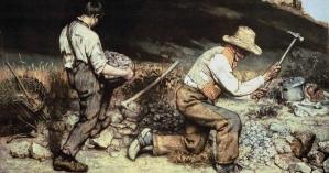 """Os britadores de pedra"", Gustave Courbet, 1849"