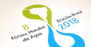 Cartaz oficial do Fórum Mundial da Água de 2018.
