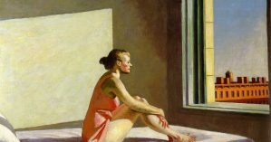 """Sozinha"", Edward Hopper (1952)."