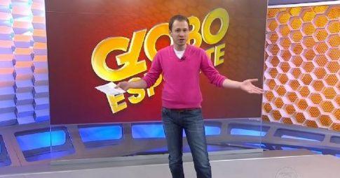 O jornalista Tiago Leifert à época em que apresentava o programa Globo Esporte - Reprodução