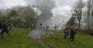 Ocupantes atacados pela polícia em ZAD - Reprodução Facebook